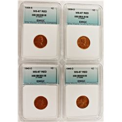 SUPERB RED BU LINCOLN CENTS