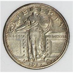 1917-D TYPE 1 STANDING LIBERTY QUARTER