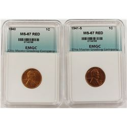 1940 AND 1941-S LINCOLN CENTS