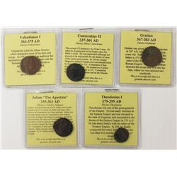 NICE SET OF 5 XF+ ANCIENTS ALL FULLY ATTRIBUTED