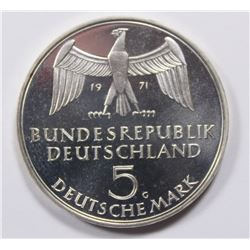 1971 GERMANY 5 MARK SILVER