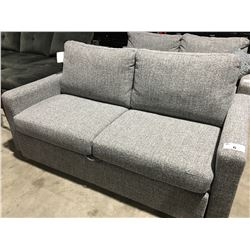 GREY  UPHOLSTERED PULL OUT SOFA BED - QUEEN SIZE