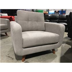GREY UPHOLSTERED SIDE CHAIR