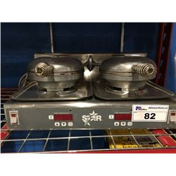 STAR COMMERCIAL DOUBLE WAFFLE MAKER