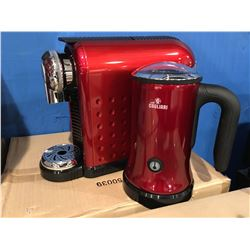 CAFFE GAGLIARI CARINA ESPRESSO STATION CAPSULE COFFEE MACHINE (RED)