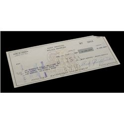 Andy Griffith – Signed Bank Check - VI645