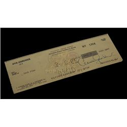Ava Gardner – Signed Bank Check – VI596