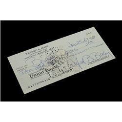 Bill Bixby – Signed Bank Check – VI586