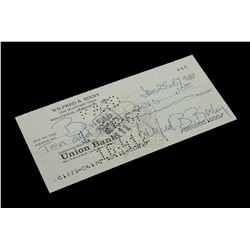Bill Bixby – Signed Bank Check – VI586