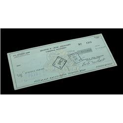 Bob Newhart – Signed Bank Check – VI591