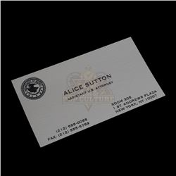 Conspiracy Theory - Alice Sutton's (Julia Roberts) Business Card – VI697