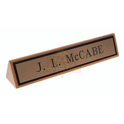 Jake and the Fat Man (TV) – Jason McCabe's (William Conrad) Desktop Nameplate – VI812