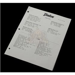 Shadow, The – Crew List – VI853