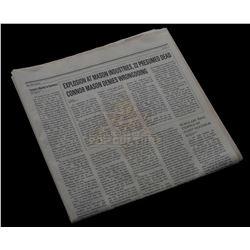 "Timeless (TV) – ""Mason Industries Explosion"" Newspaper – VI682"