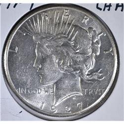 1927 PEACE DOLLAR, CH AU