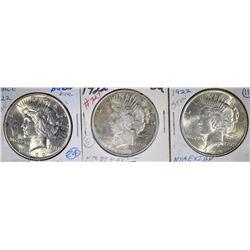 3-1922 PEACE DOLLARS, BU