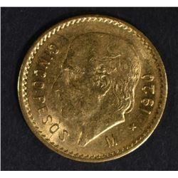 1920 MEXICO 5-PESOS GOLD COIN