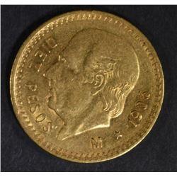 1906 MEXICO 10-PESOS GOLD COIN