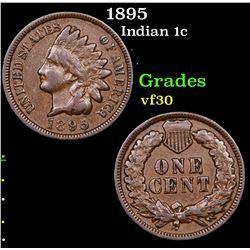 1895 Indian Cent 1c Grades vf++