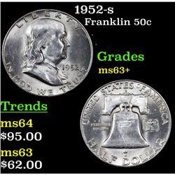 1952-s Franklin Half Dollar 50c Grades Select+ Unc