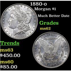 1880-o Morgan Dollar $1 Grades Select Unc