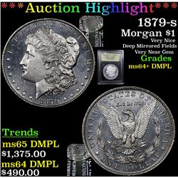 ***Auction Highlight*** 1879-s Morgan Dollar $1 Graded Choice Unc+ DMPL By USCG (fc)