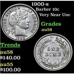 1900-s Barber Dime 10c Grades Choice AU/BU Slider