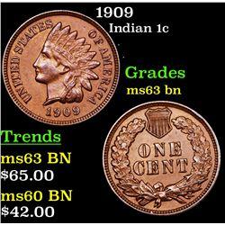 1909 Indian Cent 1c Grades Select Unc BN