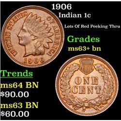 1906 Indian Cent 1c Grades Select+ Unc BN