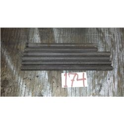 """Filleted Rod from 10"""" to 12""""1/2 x 17mm with metric thread"""