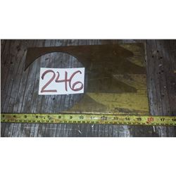 """Brass 660 plate 5""""1/2 x 7""""1/2 x 1/8""""(or 3/16"""")"""