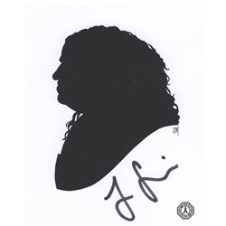 LOST Art Print: Hurley Silhouette, Signed by Jorge Garcia