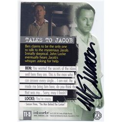LOST Ben Linus Foil Trading Card Signed by Michael Emerson