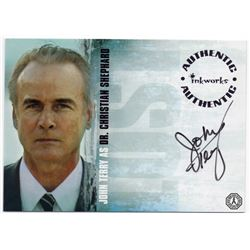 LOST Christian Shephard Autograph Card Signed by John Terry