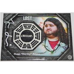 LOST Dharma Patch Card: Hurley, Signed by Jorge Garcia