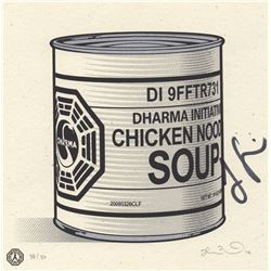LOST Dharma Soup Mini Screen-Print, Signed by Jorge Garcia