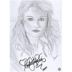 LOST Emilie de Ravin Custom Sketch Signed by Emilie de Ravin