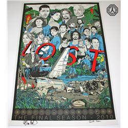 LOST Final Season Tyler Stout Poster Signed by Damon Lindelof & Carlton Cuse