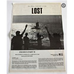 LOST For Your Consideration 2005 Magazine Ad