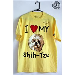 LOST I Heart My Shih-Tzu Tee Signed by Jorge Garcia (Rare)