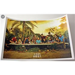 LOST Last Supper Mini Poster Signed by Jorge Garcia