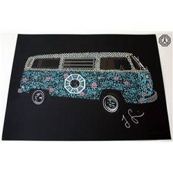 LOST Limited Edition ARG Screen-Print: The Dharma Van, Signed by Jorge Garcia