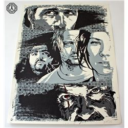 LOST Limited Edition Screen-Print: The End (Silver Variant) Signed by Jorge Garcia