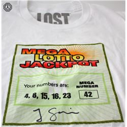 LOST Mega Lotto Jackpot T-Shirt Signed by Jorge Garcia