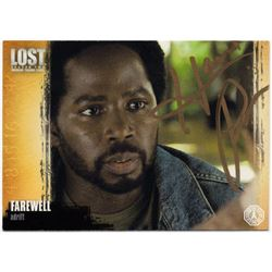 LOST Michael Dawson Trading Card Signed by Harold Perrineau