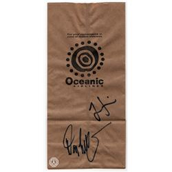 LOST Oceanic Airlines Motion Sickness Bag Signed by Damon Lindelof & Jorge Garcia