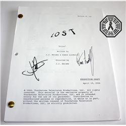 LOST Pilot Script Signed by J.J. Abrams & Damon Lindelof (Very Rare!)