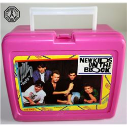 LOST Related New Kids On The Block Lunchbox Signed by Evangeline Lilly