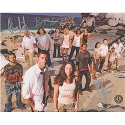LOST Season 1 Cast Photo Signed by Abrams, Burk, Cuse & Lindelof (Rare)