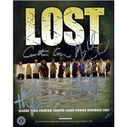 LOST Season 3 Card Promo Signed by Cuse, Giacchino, Lindelof, Perrineau